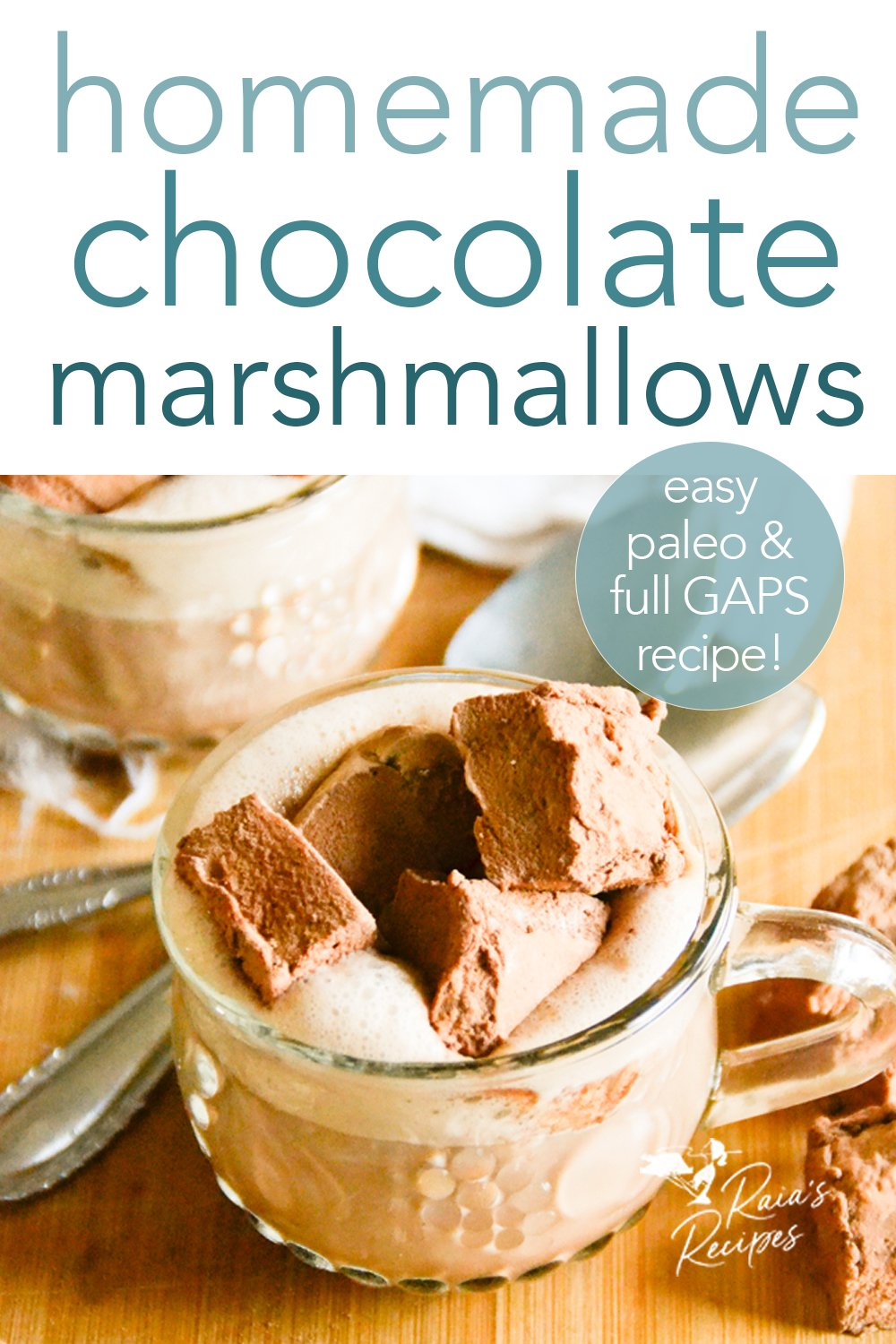 Homemade chocolate marshmallows from raiasrecipes.com #paleo #fullgapsdiet #chocolate #marshmallows