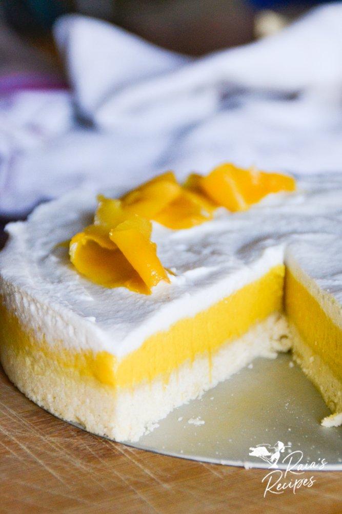 paleo coconut mango tart