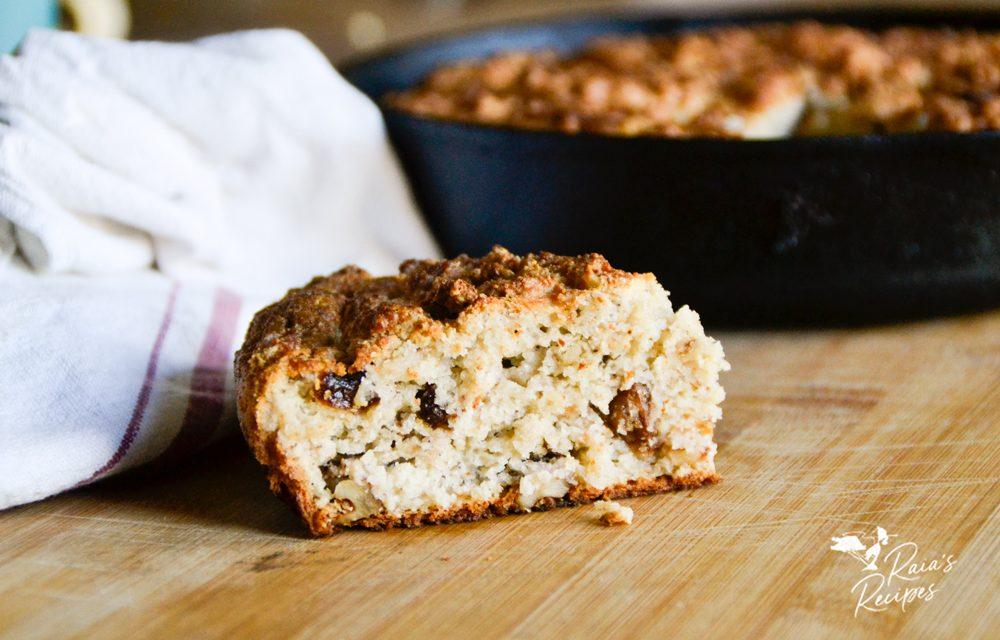 Grain-Free Irish Soda Bread with Raisins & Walnuts
