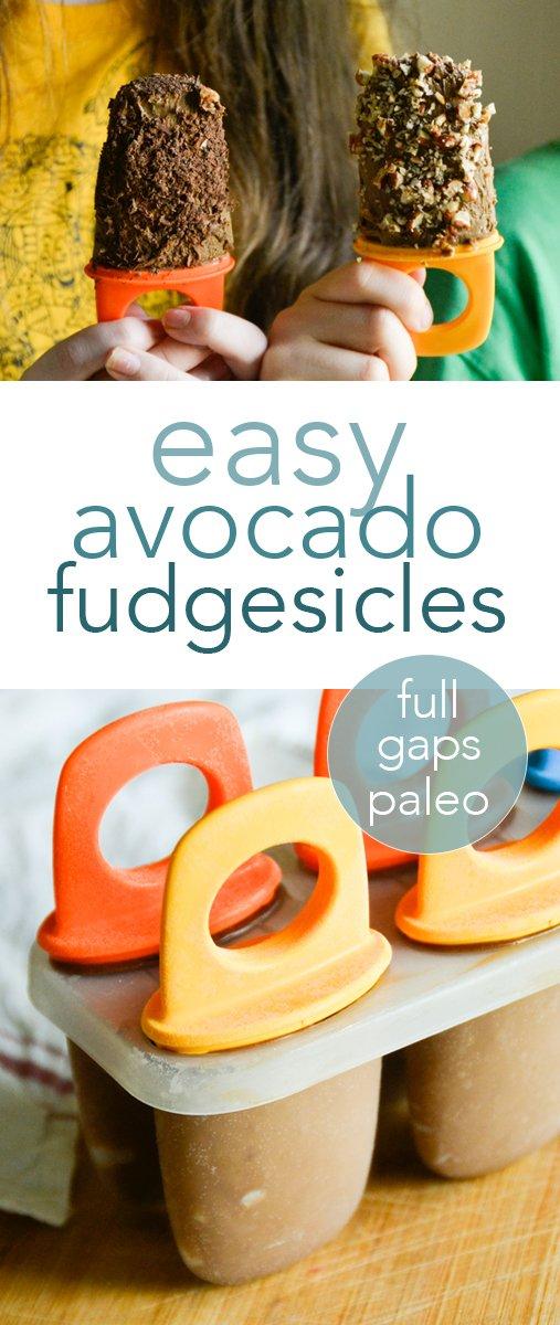 paleo & GAPS fudgesicles from raiasrecipes.com #avocado #fudgesicles #snacks #paleo #gapsdiet #chocolate #healthy #glutenfree #dairyfree #refinedsugarfree