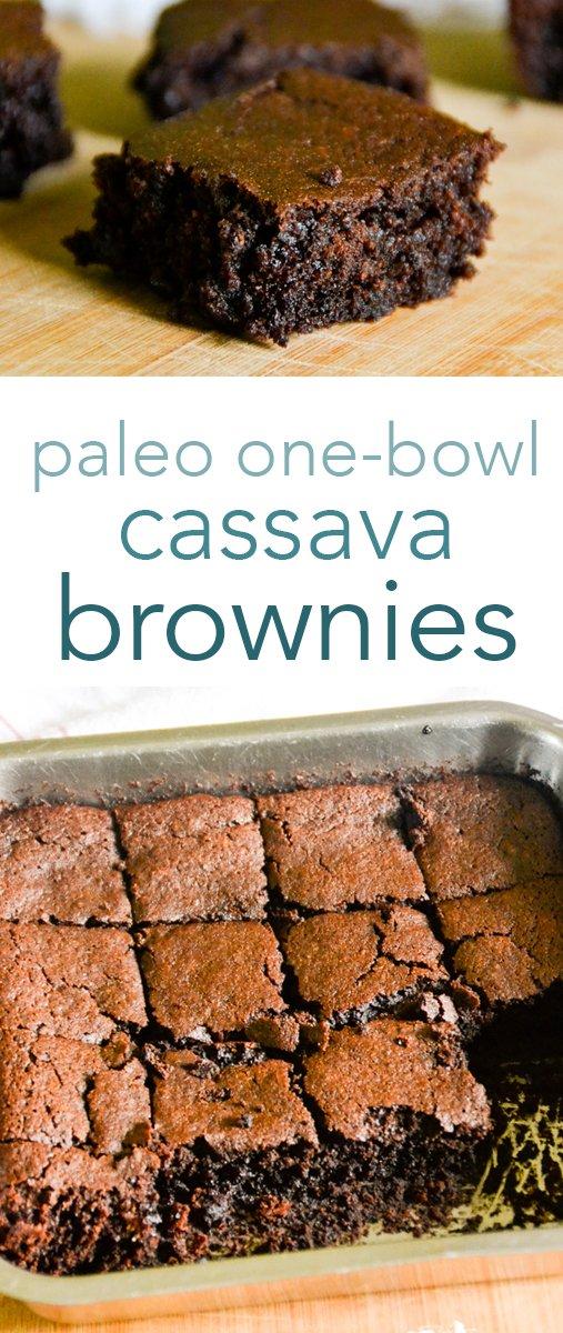paleo, egg-free cassava flour brownies from raiasrecipes.com