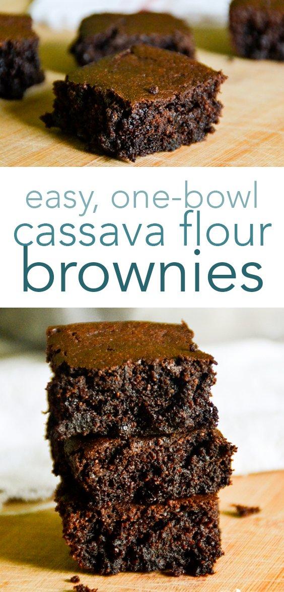 paleo, one-bowl cassava flour brownies from raiasrecipes.com